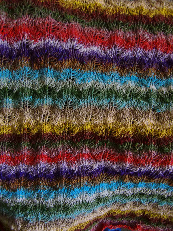 Noro Taiyo Sport 6 Detail Muster und Farbverlauf Pullover by Katrin Walter - noromaniac