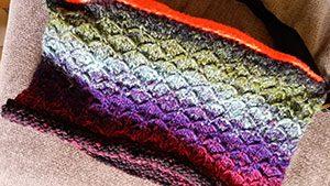 Tasche aus einem Teil des Farbrapportes von Noro Taiyo 41 - noromaniac