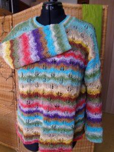 Noro Taiyo Sport 06 der Pullover fertig gestrickt