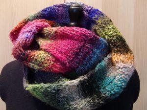 Loop-Schal aus Noro Obi 1 und Obi 7 von Noromaniac - Katrin Walter