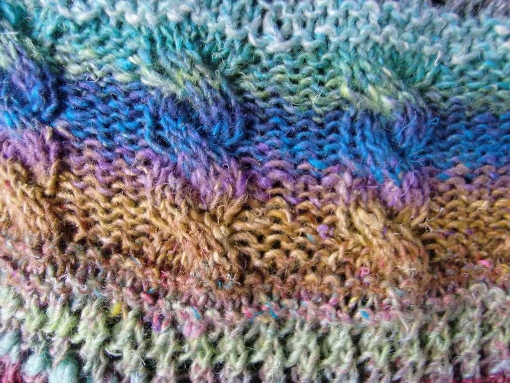 Noro Silk Garden Lite 2107 verstrickt - Detail