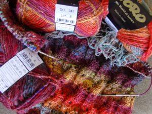 Noro Silk Garden 4ply 341 Beginn des Pullovers von Noromaniac