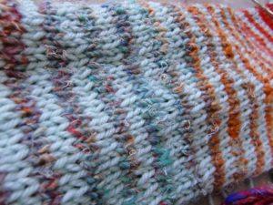 Ringel alla Noromaniac: seidige Wolle Noro Silk Garden 4ply 341 mit Merino in Eisbonbon-Farbeac