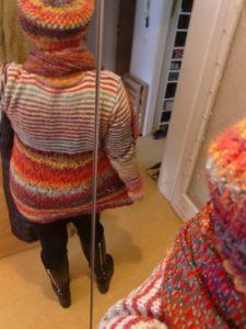 Noromaniac mit ihrem Pullover aus Noro Silk Garden 4ply 341