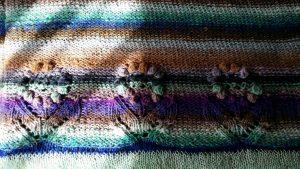 Der Blütenrand am Pullover aus Noro Taiyo Sport #9 (Foto Katrin Walter) #noromaniac #simplywalter