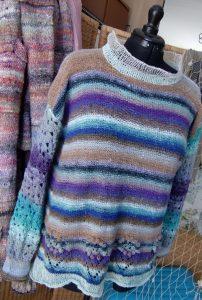 Der fertige Pullover aus Noro Taiyo Sport #9 #noromaniac, simplywalter (Foto Katrin Walter)