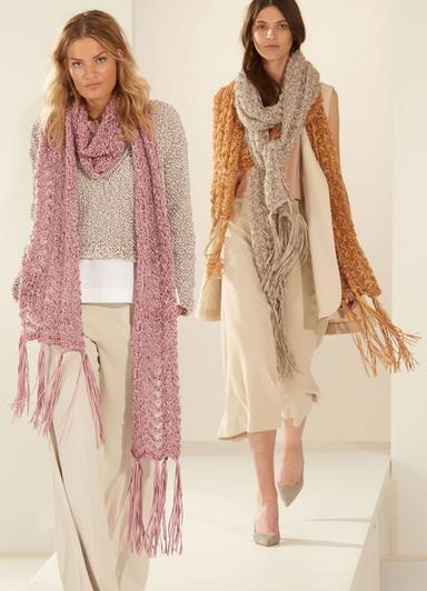 Lana Grossa Schal-Modelle aus Alcanto und Silkhair