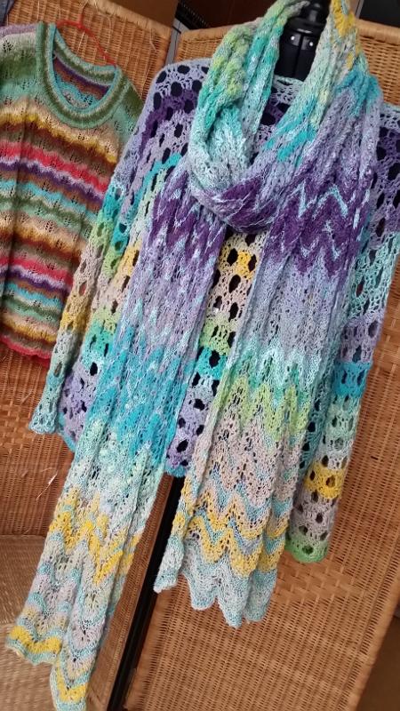 Stola oder langer Schal aus Noro Taiyo 4ply 70 by Noromaniac - Katrin Walter