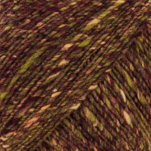 Farbe #24 Aisai der Norowolle mit Brauntönen und Oliv