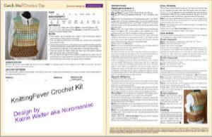 Vorschau auf das Crochet Kit von KnittingFever mit dem Design von Katrin Walter aka Noromaniac