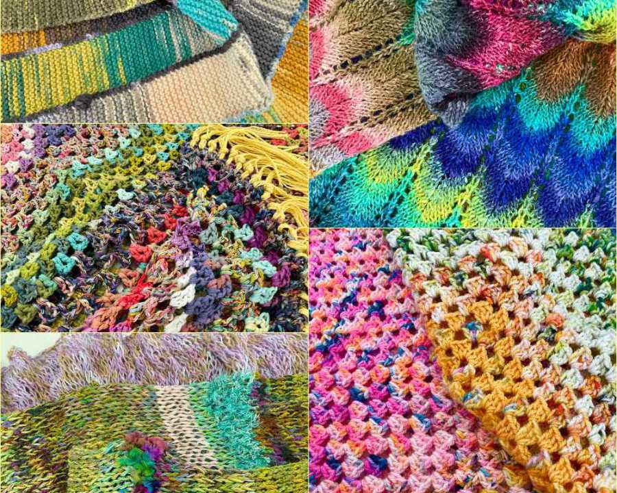 Crochet and knitting from Margie. For her (as well as for Noromaniac) it can't be colorful enough. Photo: Margie Kieper
