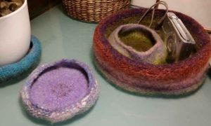 Filzschalen aus der Wolle Noro Kureyon #221 und #349. Foto&Design: Katrin Walter - Noromaniac
