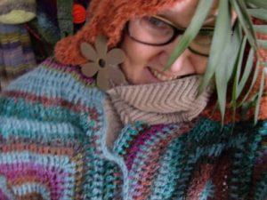 Sieht so vielleicht Holla die Waldfee aus? Stola aus Noro Silk Garden Sock #370. Foto: Katrin Walter, Noromaniac