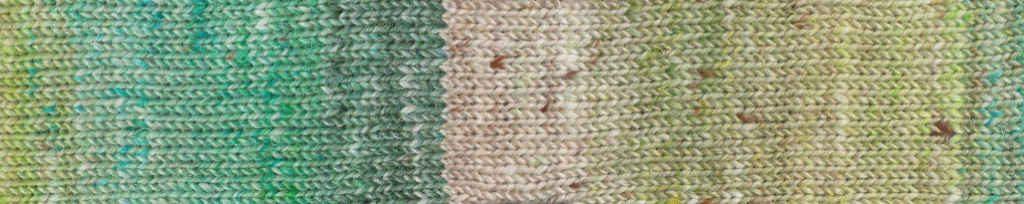 Noro Akari #04 Rapport der Wolle in Grüntönen