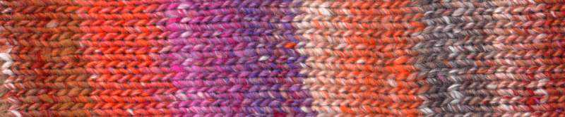Farbe #04 Kobe mit Orange, Brauntönen und Flieder Farbrapport Eisaku Noro/Knittingfever – Garn-Rezension Noromaniac