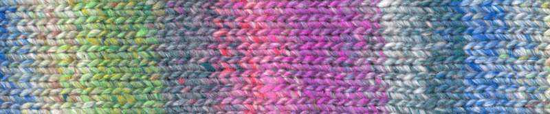 Noro Enka #06 Mito mit Grün, Blautönen, Flieder und Rosa Farbrapport Eisaku Noro/Knittingfever – Garn-Rezension Noromaniac