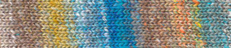#08 Kyoto mit Braun, Ocker und Azurblau Farbrapport Eisaku Noro/Knittingfever – Garn-Rezension Noromaniac