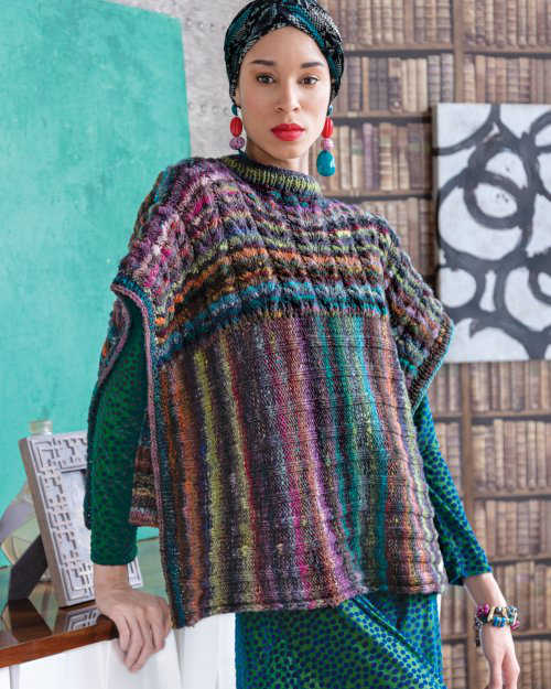 Two Direction Poncho aus Noro Ito #04 von Laura Zukaite
