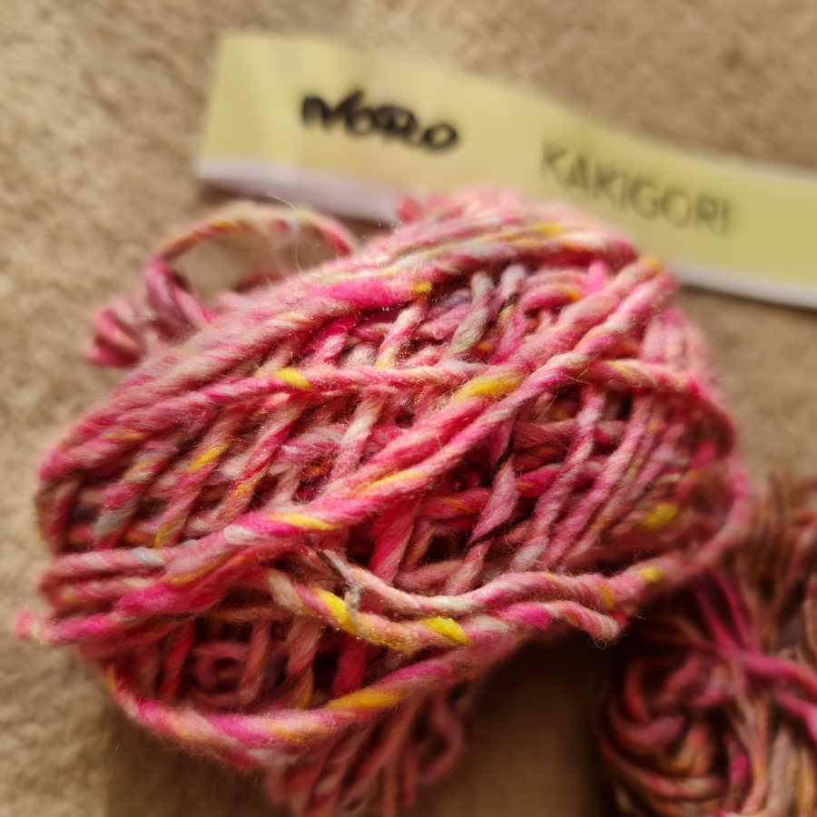 Von ganz nah die Noro Kakigori in Rosa/Pink, Farbe 08 Iwaki. Foto: Katrin Walter aka Noromaniac