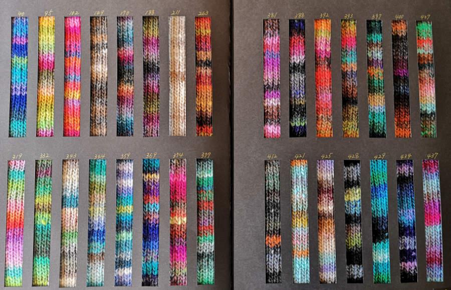 Noro Kureyon Farbkarte 2021 - Foto: Norowolle von Knittingfever / Eisaku Noro - Noromaniac