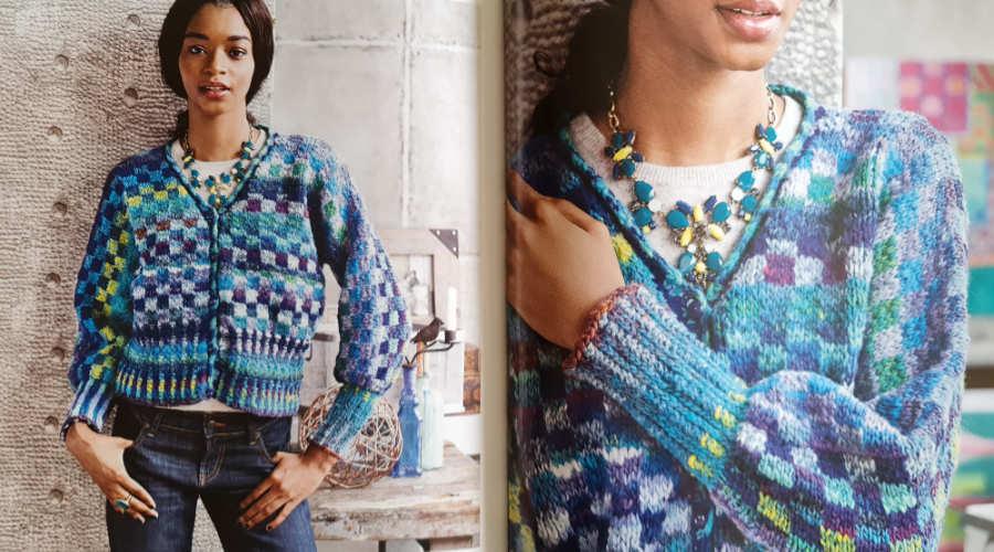 """Aus zwei Farben der Noro Kureyon, der #40 und der #359 besteht auch diese Jacke """"Fair and Square"""" designt von Valentina Devine. - Noromaniac"""