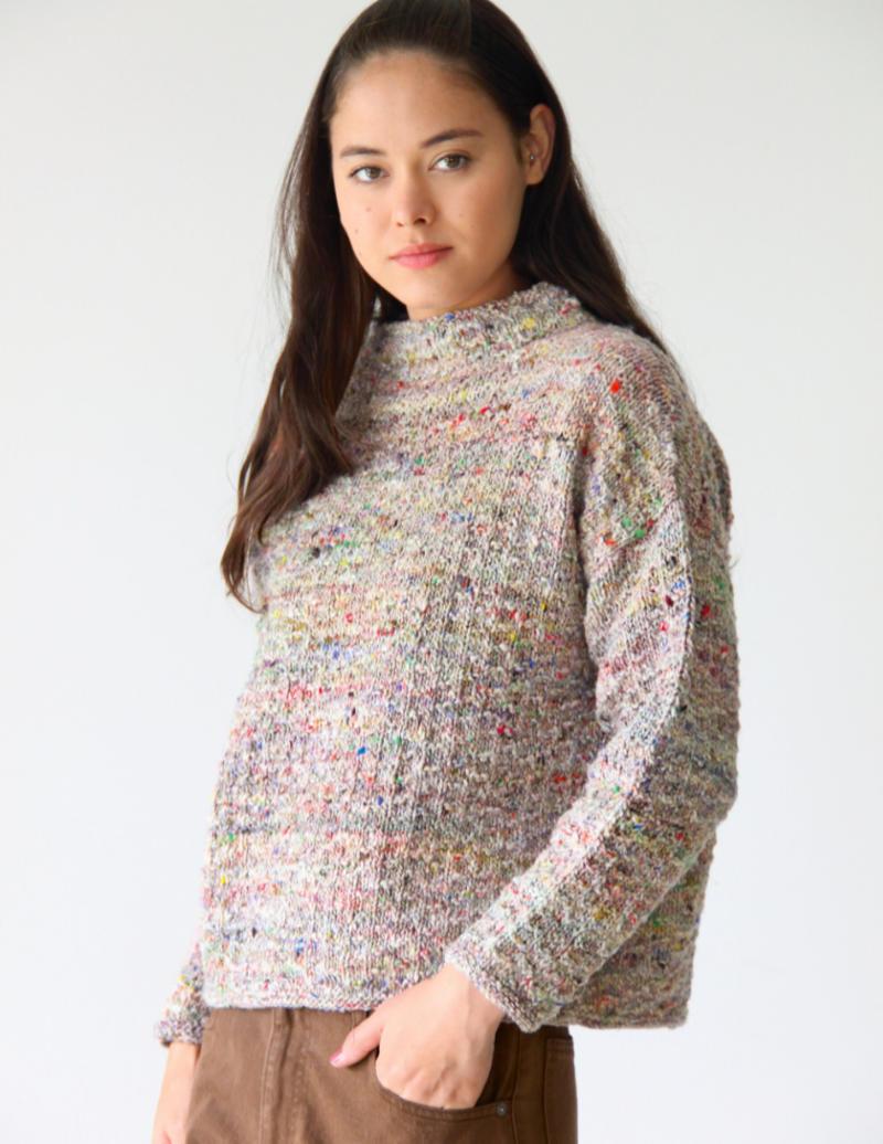 "Pullover ""Sia"" aus Noro Madara #01 vom Noro Design Team. Foto aus Noro Knitting Magazine 19"