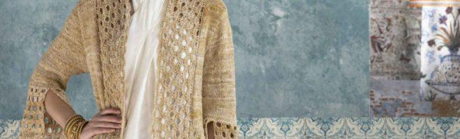 Mein Design im Noro Magazine: Knit & Crochet Coat aus Noro Kumo