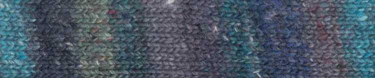 Norogarn Farbe #03 mit Blau Foto: EisakuNoro / Knittingfever – Garn-Beschreibung Noromaniac