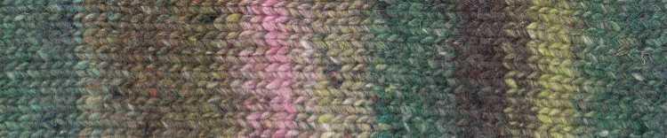 Norogarn Farbe #04 mit Grün. Foto: EisakuNoro / Knittingfever – Garn-Beschreibung Noromaniac