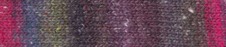 Norogarn Farbe #08 mit Braun und hellem Pink. Foto: EisakuNoro / Knittingfever – Garn-Beschreibung Noromaniac