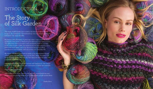 Model aus dem Buch NORO Silk Garden zum 20. Jahrestages des Garns 2016. Noromaniac