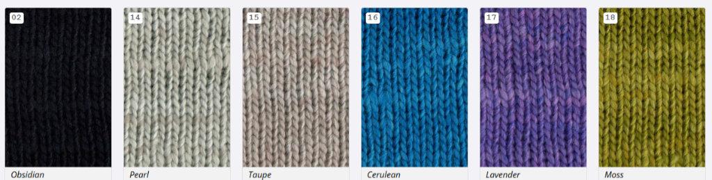 Die neuen Farben 2019 des Garns Noro Sonata: #02, #14, #15, #16, #17 und #18 (Noromaniac) #NoroSonata