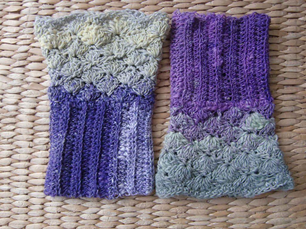 Die beiden Handschmeichler aus Noro Taiyo Sock 30. Foto: Katrin Walter – simplywalter.biz/Noromaniac
