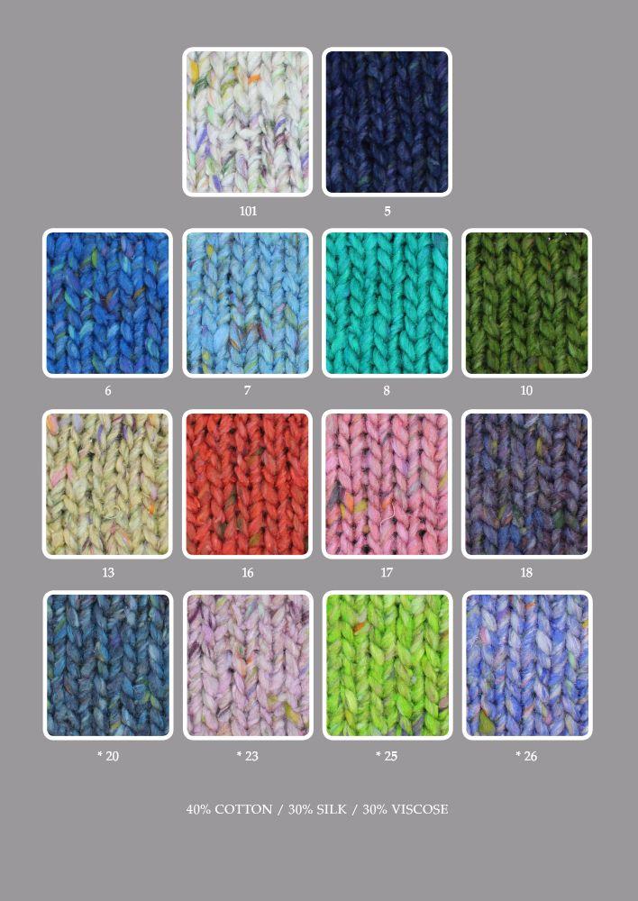 Die 14 Farben dieses Norogarn als sie Eisaku Noro und Team auf den Markt brachten. Noromaniac