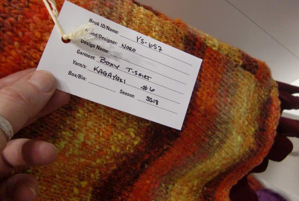 Noro Kagayaki #6 Das Shirt ausgestellt auf der H+H in Köln. Foto: Katrin Walter - Noromaniac