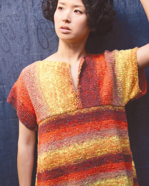Shirt designed vom NORO Design Team aus Kagayaki #6. Foto: Noro. Noromaniac