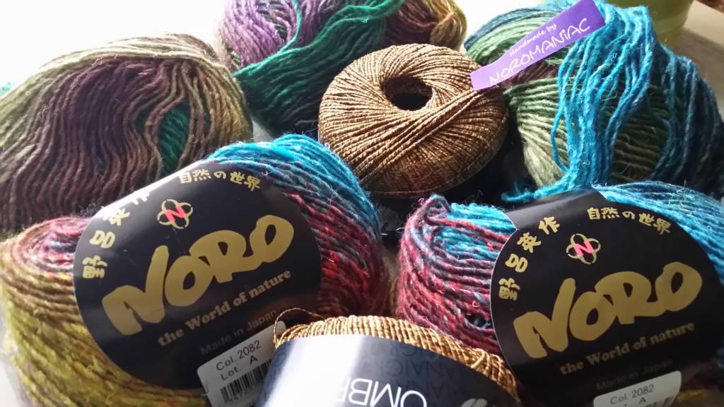 Das japanische Garn Noro Silk Garden Lite 2082 und Lana Grossa Ombra. Foto: Katrin Walter - Noromaniac