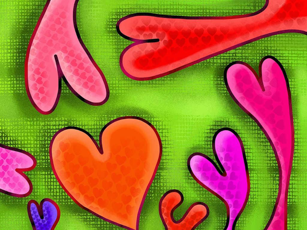 Herzen als Illustration des Artikels über Liebe zum Garn und zu Noromaniac: Valentine 2019 von Katrin Walter