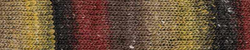 Farbe #07 Hokuto mit Schwarz, Rot und Gold. Norogarn - Noromaniac