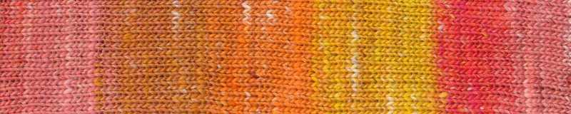 Farbe #08 Unzen mit Gelb und Orange. Norogarn - Noromaniac