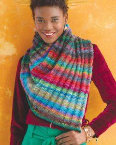 Schal aus dem Garn Noro Ito #3, das Covermodell aus dem Noro Magazin 13. Design Rosemary Drysdale. Noromaniac.