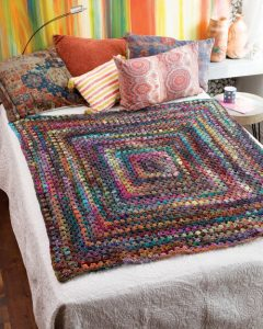 Decke aus einem großen Grannz von Granny von Christine Lipscomb aus Noro Ito #4. Noromaniac.