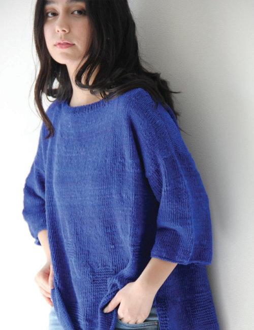"""Pulli designt vom Noro Design Team aus der neuen Farbe #25 """"Pacific""""-Blau"""