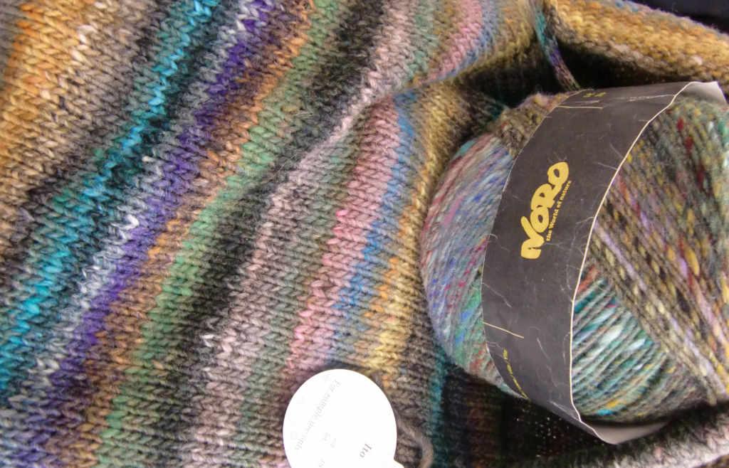 Farbrapport der Noro Ito 19, einer neuen Farbe 2019 dieses Noro-Garns. Foto Katrin Walter, Noromaniac