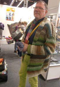 Herbert Schweinsberger - Vertreter von Knitting Fever in Deutschland West, Österreich und der Schweiz auf der h+h 2019 Foto Katrin Walter, Noromaniac