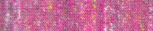 Iwaki Kakogori von Noro in Farbe 08 Pink-Rosa mit Sprenkel in Weiß, Hellbraunen und Gelb.