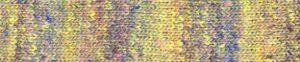 Himeji Noro Kakigori 12, ein helles Gelb mit lilablauem Schimmer und Sprenekl in Zartrosa.