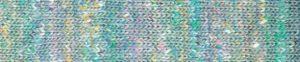 Noro kakigori 13 Fukuyama (Aquafarben mit Sprenkel in Gelb, Rosa, Flieder und Weiß.