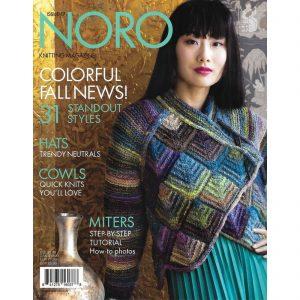 Das Cover der Ausgabe 17 des Noro Knitting Magazine mit einem Modell aus der Norowolle Ito - Noromaniac