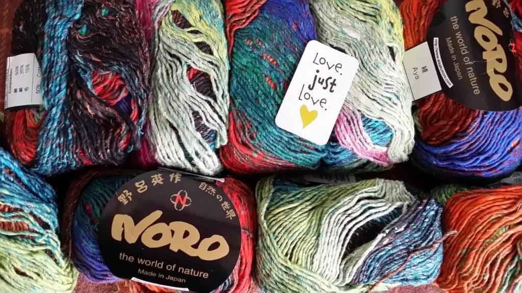 Das Garn Noro Aya #28 von Noromaniac. Foto: Katrin Walter